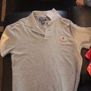 Gray Ralph Lauren polo shirt